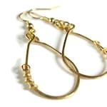 Minimalist gold earrings - gold earrings dangle
