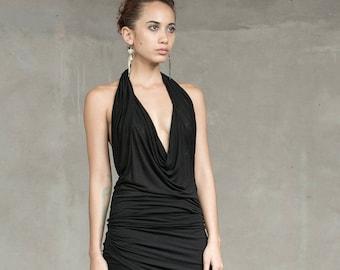 WAVE HALTER TOP - Women Halter top - Top - Available in Black or Grey - Haus of Sparrow - Designer Monica Wallway
