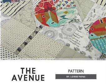 Louise Papas Quilt Pattern The Avenue from Jen Kingwell Designs Pieced Drunkards Path Pattern