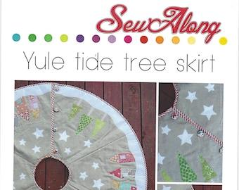 Sew Along Yuletide Tree Skirt Pattern ONLY Christmas Tree Skirt Pattern SA002