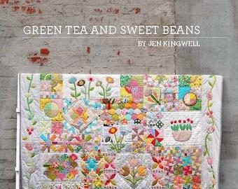 Jen Kingwell Designs Green Tea and Sweet Beans Applique Quilt Pattern