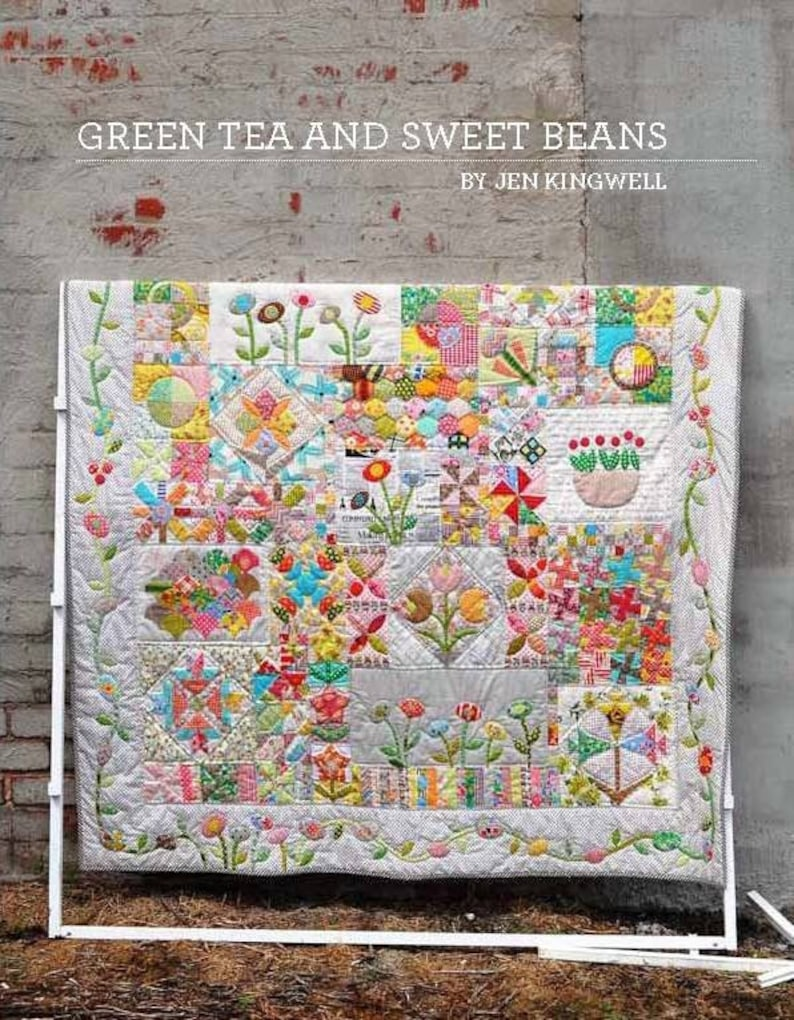 Jen Kingwell Designs Green Tea and Sweet Beans Applique Quilt image 0