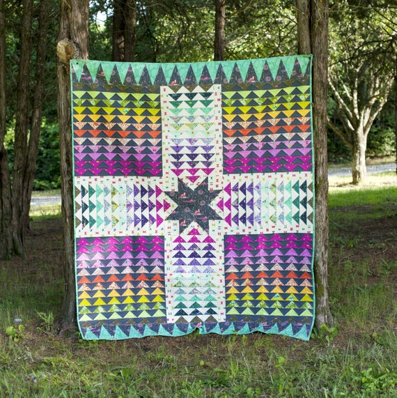 Wayfinder Quilt Kit by Tula Pink and Stacey Day using Spirit Animal fabrics for FreeSpirit Skill level Intermediate