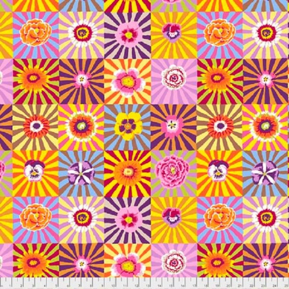 Free Spirit Fabrics Kaffe Fassett Collective Yellow Sunburst BTY green blue red