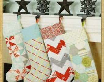 Merry Christmas Stockings Sewing and Quilting PATTERN by Thimble Blossoms