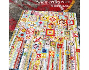 Jen Kingwell Designs Wanderer's (Gypsy) Wife Quilt Pattern Booklet 3rd Edition (Newest)