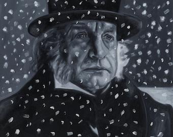 Ebenezer Scrooge / A Christmas Carol / Charles Dickens / Scrooge Portrait / Scrooge Painting