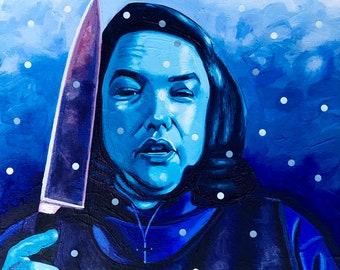 Kathy Bates / Misery / Horror Art / Stephen King / Original Acrylic Painting