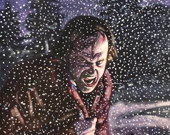 The Shining / Jack Nicholson / Stephen King / Stanley Kubrick / The Shining Jack Nicholson Watercolor Painting