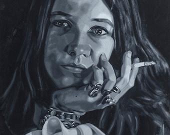 Janis Joplin / Fine Art Print / Rock Legend / Janis Joplin Painting / Janis Joplin Portrait / Janis Joplin Fan Art