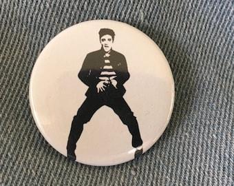 ELVIS PRESLEY            1.5 inch pin back button,Elvis Button, Elvis Pin, Jailhouse Rock,