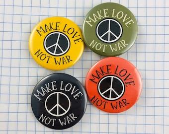 Brand New Free Spirit Metal Pin Button Hippie