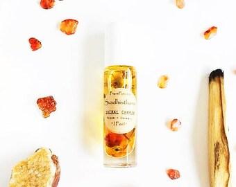 Sacral Chakra Oil: organic svadhisthana chakra balancing oil | 2nd chakra | intuitive aromatherapy chakra oil | orange carnelian