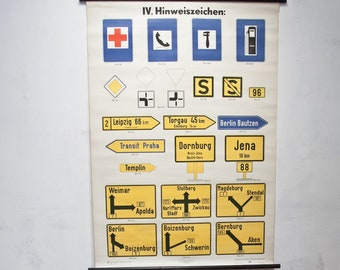 Ticket GDR road signs map mural Image 3