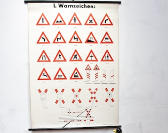 Ticket GDR road signs map mural image