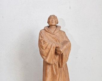 Deer figurine carved wooden figurine animal figurine 40s