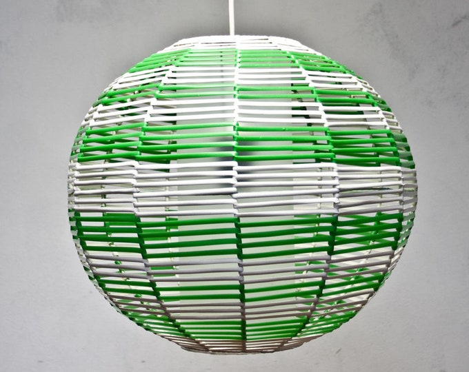 Featured listing image: Design hanging lamp lamp 50s 60s lamp DDR Lamp GDR green white