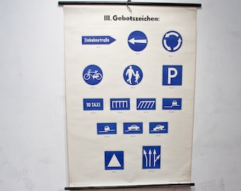 Ticket GDR road signs map mural Image 4