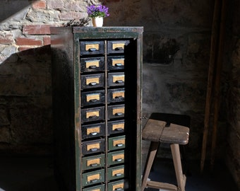 Flashcard cabinet drawer cabinet tool cabinet industrial industrial cabinet '30s