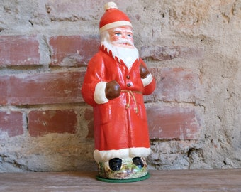 Cardboard Santa Claus Embossing Cardboard Candy Container Santa Claus Nikolaus Fillable Red 1