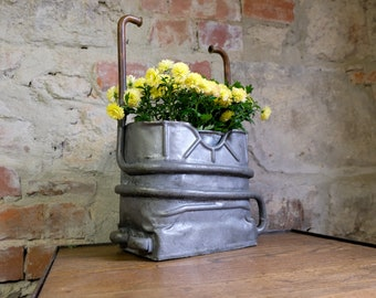 Planter container container jar old upcycling industrial