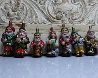 7 Dwarfs Christmas Ball Tree Ornament Christmas Tree Ball Angel Lauscha 1