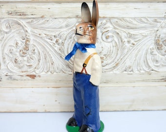 Cardboard Easter Bunny Easter Bunny Embossing Cardboard Candy Container Fillable 3