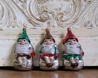 3 DwarfsChristmas Ball Tree Ornament Christmas Tree Ball Angel Lauscha