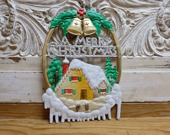 Embossed Christmas Mary Christmas Christmas Decoration orE Mountains