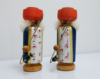 2 x Smoker Smoker Wood Figure Figure Ore Mountains GDR Expertic