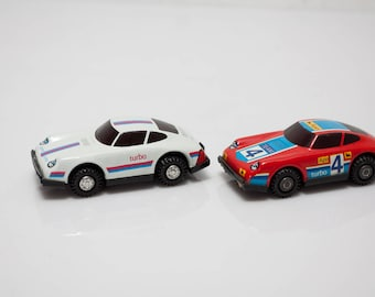 2 x DDR car tin car toy gdr racing car Porsche