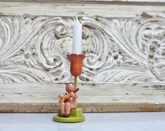 Flower child wooden figure figurine Erzgebirge gift Leichsenring