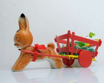 Plastic Easter Bunny Easter Bunny Candy Container GDR 3
