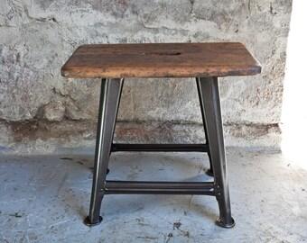 40 cm Rowac Workshop Stool Stool Vintage 4 Leg