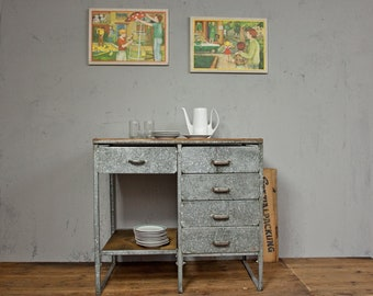 Workbench kitchen table galvanized industrial 2