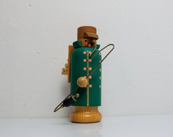 Smoker Smoker Wood Figure Guardian Woodworker Figure Ore Mountains GDR 02