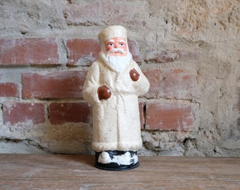 Cardboard Santa Claus Embossing Cardboard Candy Container Santa Claus Nikolaus fillable white 2