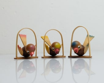 Easter Jewelry Birds Figures Pendant Tree Decoration Handmade Ore Mountains