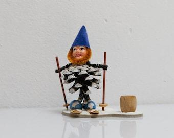 Cone Gnomes Dwarfs Handmade Folk Art Ore Mountains 5