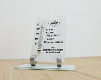 Display thermometer nitrite factory Berlin advertising 50s