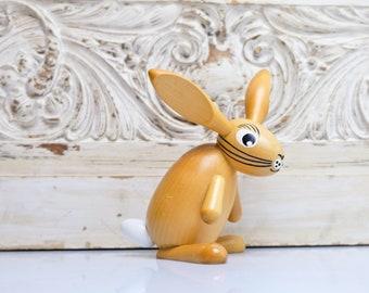 Wolkensteiner Spoon Ear Bunny Easter Bunny Figure Bunny 90s Handmade Ore Mountains