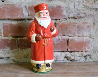 Cardboard Santa Claus Embossing Cardboard Candy Container Santa Claus Nikolaus Fillable Red 3