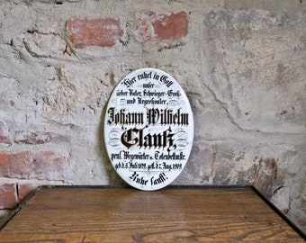Shield Porcelain Shield Collectible Calm Gentle Decoration Johann Wilhelm Glanz