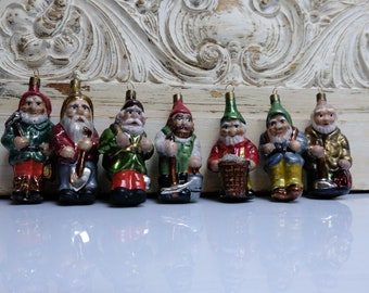 7 Dwarfs Christmas Ball Tree Ornament Christmas Ornament Angel Lauscha 2
