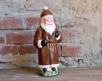 Cardboard Santa Claus Embossing Cardboard Candy Container Santa Claus Nikolaus Fillable Brown 1