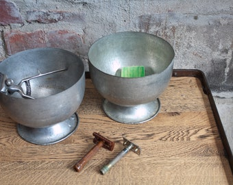 3 Bowls Set Ice Bomb Old Bowl Metal Ice Kitchen Box industrial 2