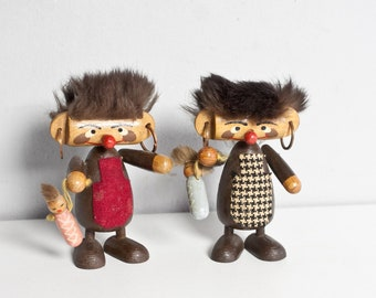 Punk pair figures from the 70s handmade GDR