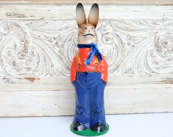 Cardboard Easter Bunny Easter Bunny Embossing Cardboard Candy Container Fillable 1