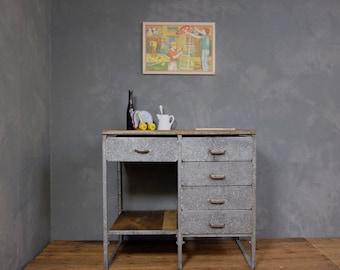 Workbench kitchen table galvanized industrial 2