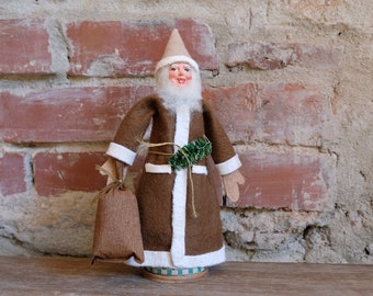 Cardboard Wichtel Mass Santa Claus Embossing Cardboard Candy Container Santa Claus Nikolaus fillable